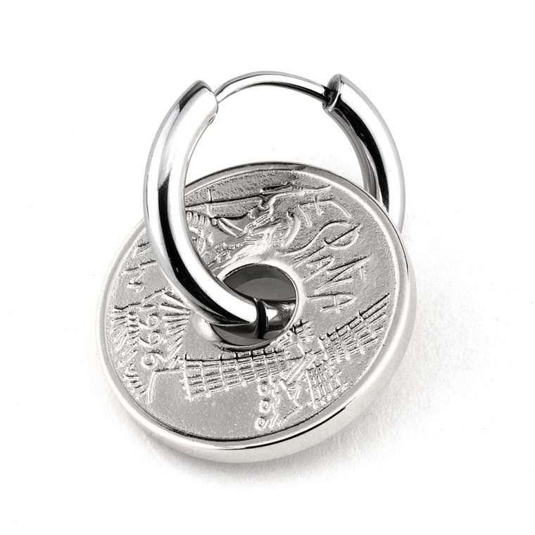 Σκουλαρίκι  stainless steel penny για το αφτί.