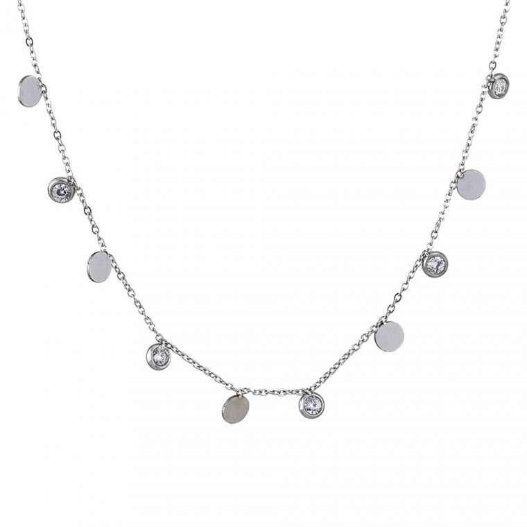 Γυναικείο κολιέ stainless steel με στοιχεία ss3