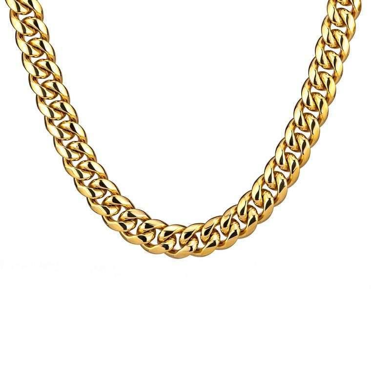 12mm Gold Cuban Chain Goldsmith G3