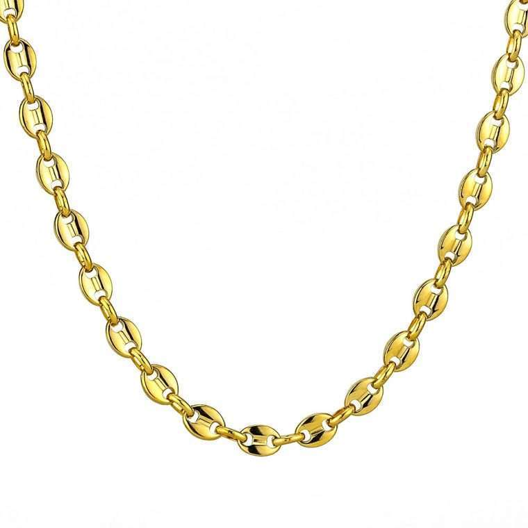8mm Gold Stainless Steel chain G4