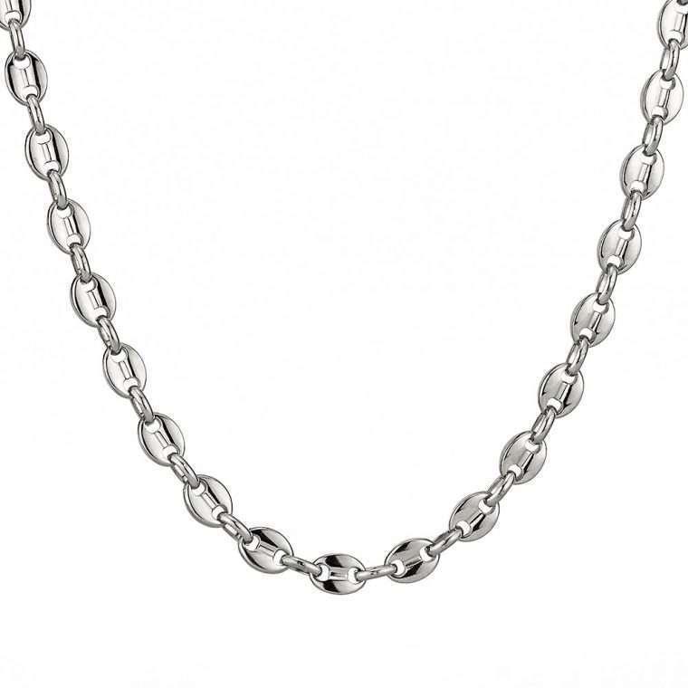 8 mm White Gold Stainless steel chain goldsmith g5