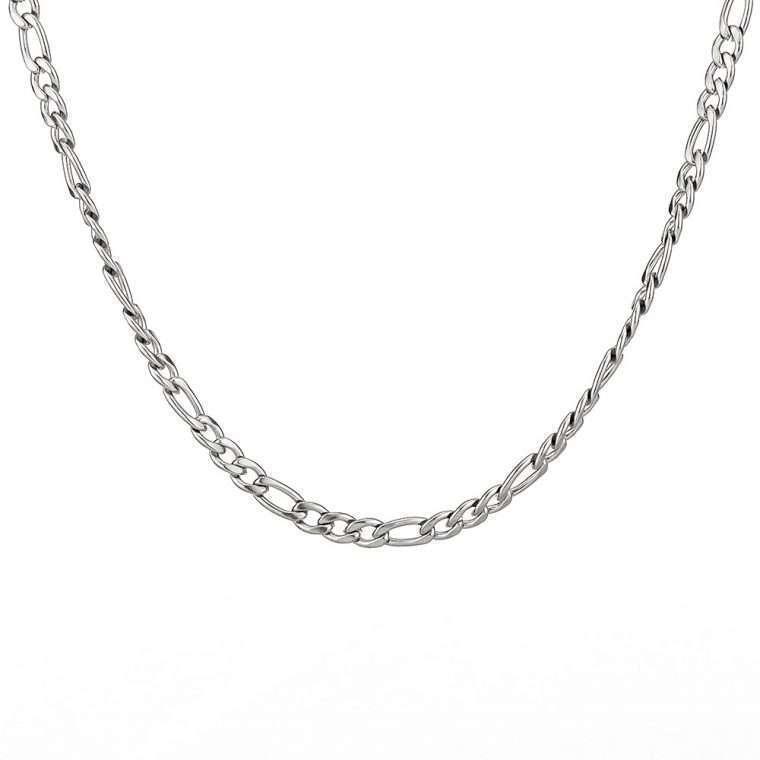 5 mm White Gold Stainless steel chain goldsmith g7