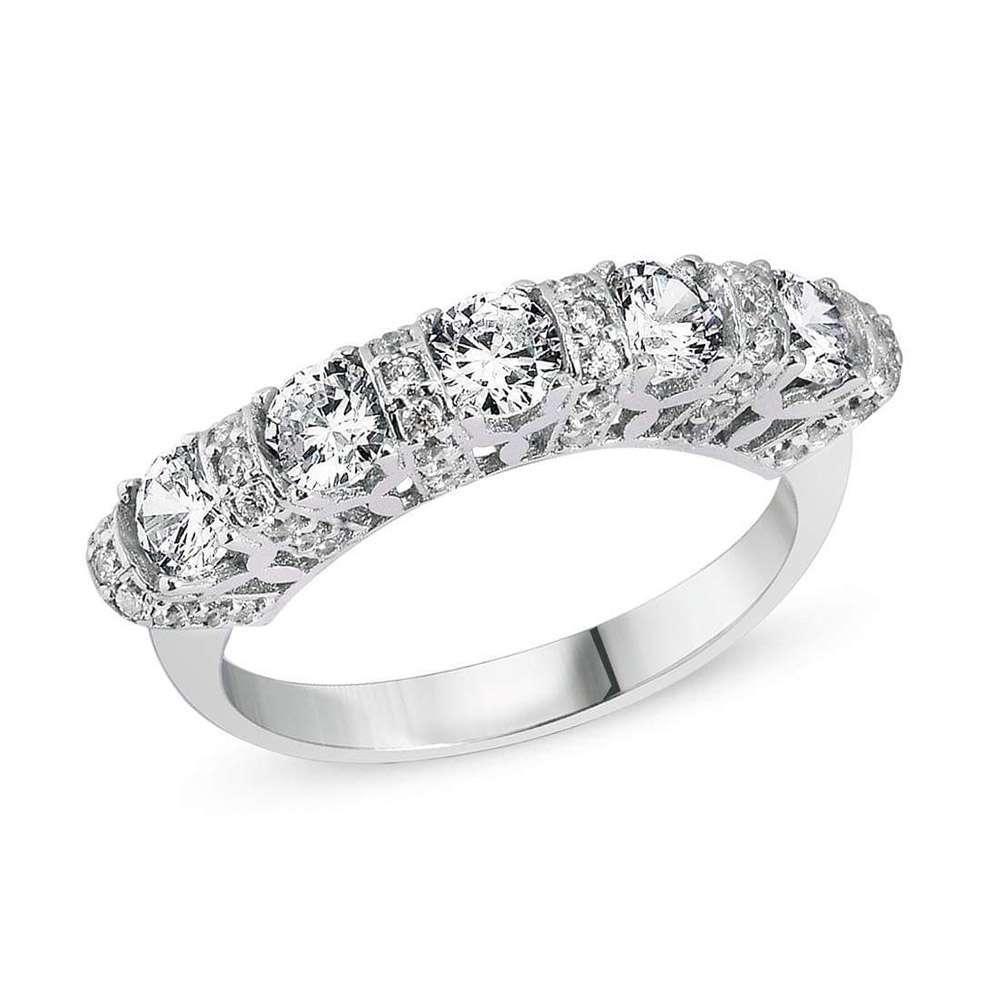 Γυναικείο ασημένιο δαχτυλίδι σειρέ.