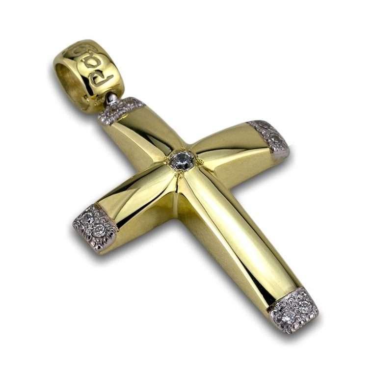 Σταυρός χρυσός 14 καρατίων No.204