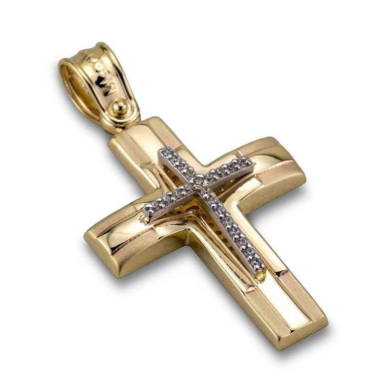 Σταυρός χρυσός 14 καρατίων, Νο.401