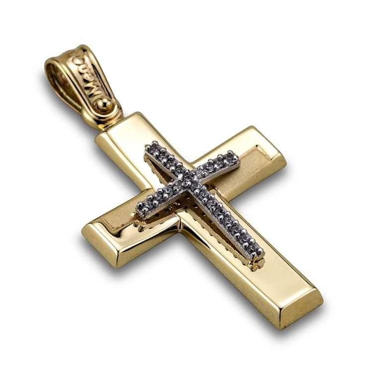 Σταυρός χρυσός 14 καρατίων, Νο.402