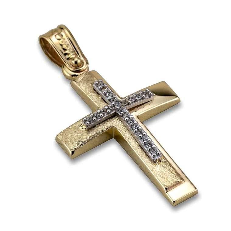 Σταυρός χρυσός 14 καρατίων, Νο. 908