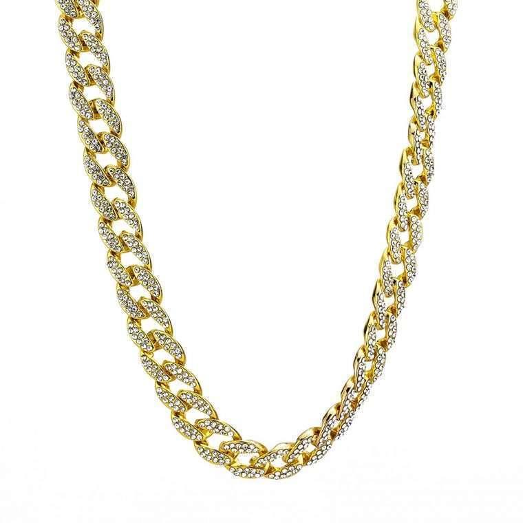 ICED CUBANA - 15MM 18K GOLD