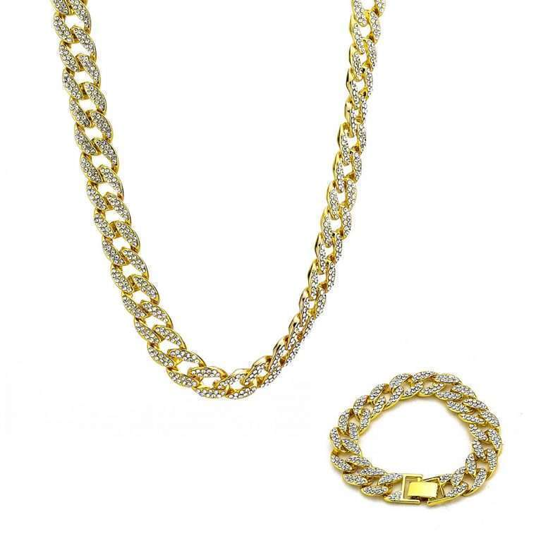 ICED CUBANA 15MM BUNDLE - WHITE GOLD