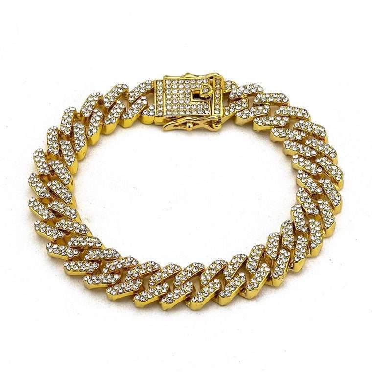 PRONG BRACELET. - 12MM WHITE GOLD