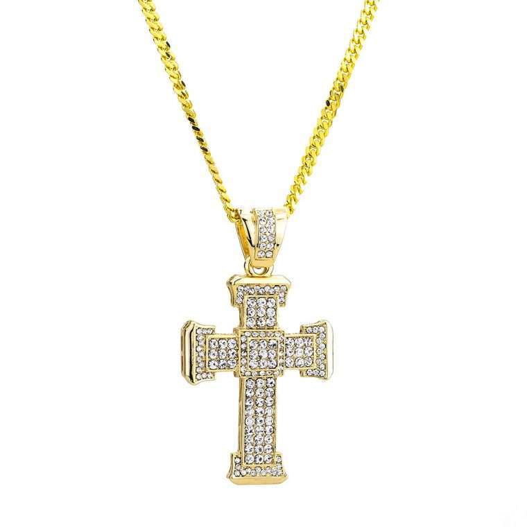 BIG CROSS PIECE. - 18K GOLD