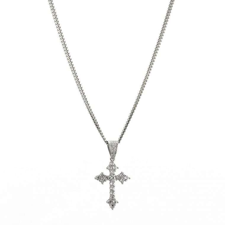 CROSS PIECE. - WHITE GOLD