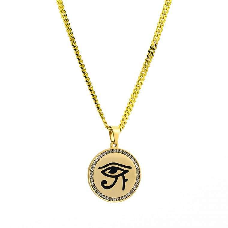 EYE OF HORUS PIECE. - 18Κ GOLD
