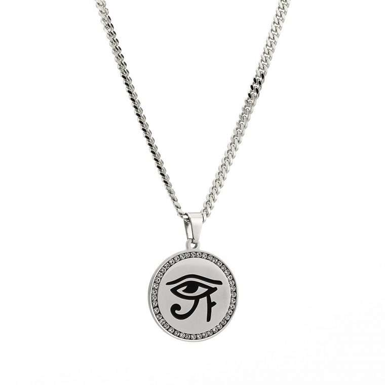 EYE OF HORUS PIECE. -  WHITE GOLD