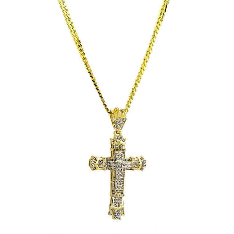 BIG CROSS PIECE 2. - WHITE GOLD